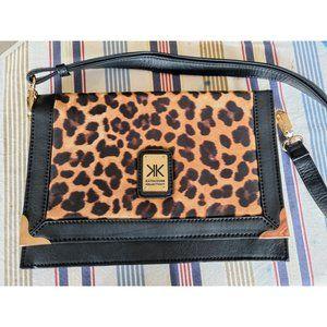 Kardashian Kollection leopard print shoulder bag